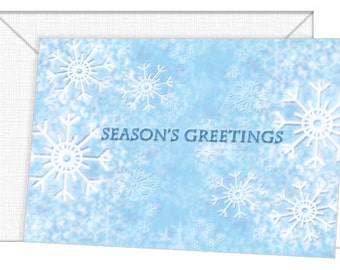 Personalized Snowflakes Holiday Cards - Season's Greetings/Christmas