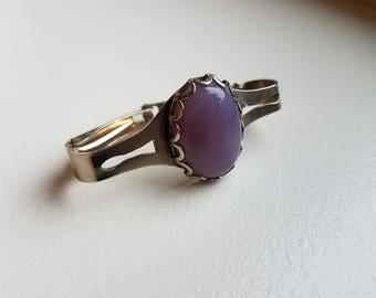 Purple Polished Stone Scarf or Sash Clip