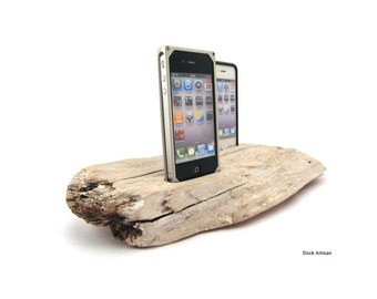 Dual Dock Driftwood iPhone Docking Station -