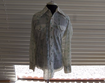 Vintage Sears Men's Western Wear Western Pearl Snap Shirt