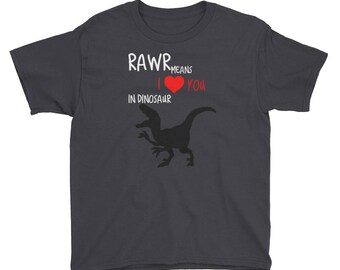Rawr Means I love You In Dinosaur, Dinosaur shirt, Dino shirt, boys dino shirt,Girl Dino Shirt, Valentines Shirt