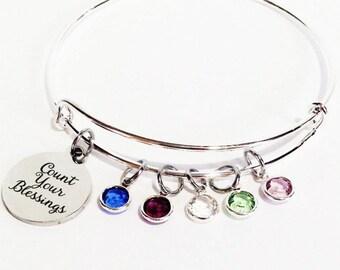 Birthstone Bracelet for Mom, Birthstone Bracelet for Grandma, Mothers Day Gift, Mom Gifts, Mom Jewelry, Gifts for Mom, Family Bracelet