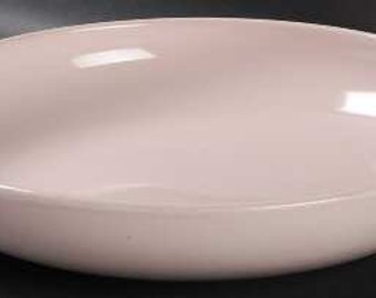 "Russel Wright Iroquois Pink Sherbet 10"" Open Vegetable Bowl"