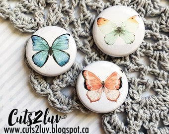 """3 buttons 1 """"butterfly 2"""
