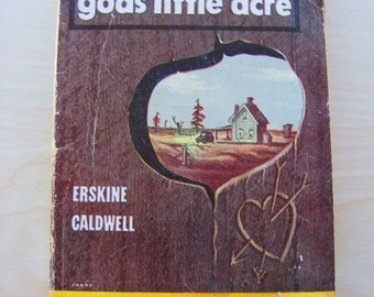 God's Little Acre Vintage Paperback Book Erskine Caldwell Penguin Fiction Novel Deep South Southern Living Americana Primitive Country