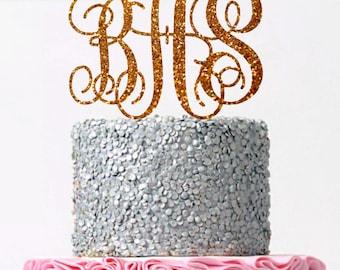 Initial Wedding Cake Topper Monogram Cake Topper  Custom Monogram Topper Personalized Letter Monogram Wedding Cake Topper Personalized