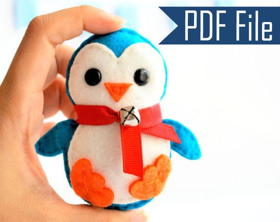 Penguin Pattern Baby Penguin Christmas Ornament Pdf Sewing