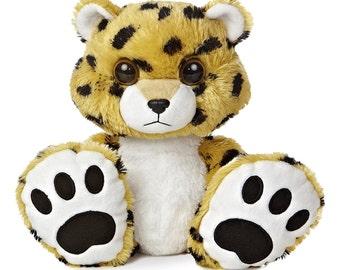 Personalized Keepsake Animal/ Plush Cheetah/ Birth Announcement/ Personalized Birthday/ Personalized Gift/ Personalized Baby Shower