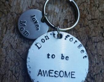 Teen keychain Personalized keychain Keychain for teen Encouragement Inspirational Key chain Keychain Teen gift High school gift College gift
