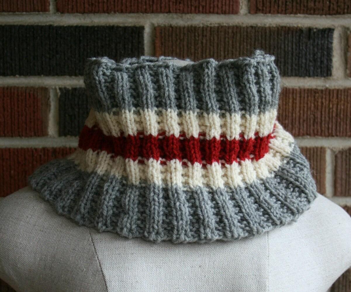 Cowl Knitting Pattern Work Socks Infinity Scarf PDF Men Women ...