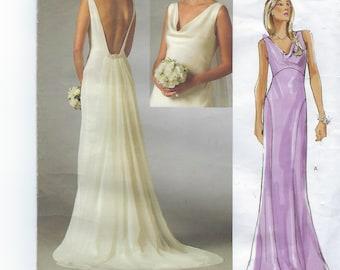 Vogue Bridal Original V2965  Misses' Dress Size (4-8)  UCNUT