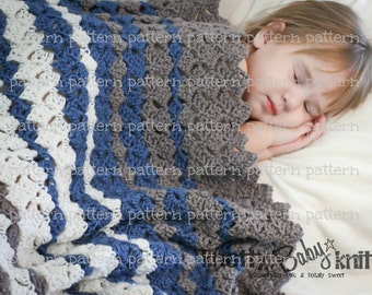 PATTERN Diamond Thatch Throw Crochet PATTERN