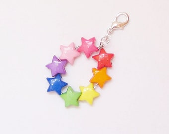 Clasp Charm, Rainbow 8 Star Charm, Zipper Charm, Kid Party Gift