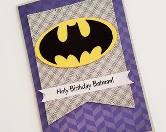 Batman birthday card etsy holy birthday batman birthday card superhero birthday card cards for kids cards bookmarktalkfo Choice Image