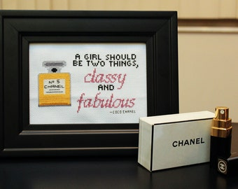 Chanel No. 5 Cross Stitch *PATTERN DOWNLOAD*