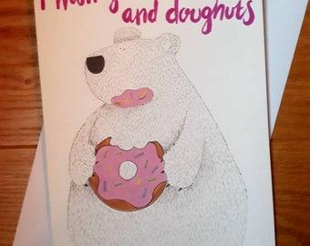 Doughnut bear greetings card