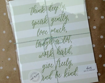 Think deeply 8 x 10 print