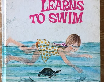 Rare vintage Jean Ellen Learns to Swim by Evelyn Swetnam Whitman Tell A Tale book 1970