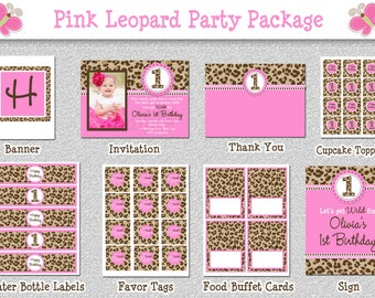 Items similar to Hot Pink Leopard Birthday Invitation Party