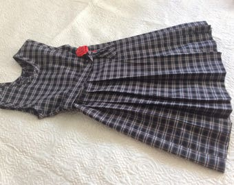 Formal Plaid Pleated Dress