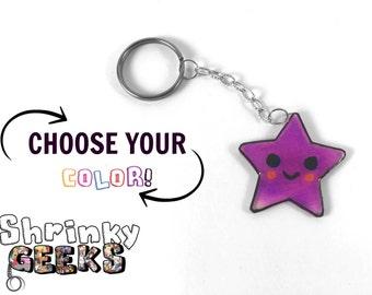 Handmade Blushy Star Keychain [Shrinking Plastic/Shrinky Dinks]