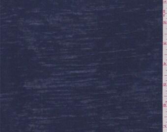 Dark Blue Burn Out T Shirt Knit, Fabric By The Yard