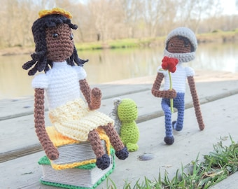 Proposal-gift, afro, couple, ideas, amigurumi, doll, cotton, i love you, marry me gifts, for couples, for her, for him, i love you