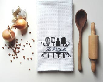Kitchen Towel / Waffle Towel / Tea Towel / Personalized Towel / Monogrammed Towel / Hand Towel / Bath Towels / Embroidered Towel