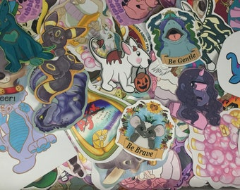 Mystery blind box grab bag of stickers indoor and outdoor use