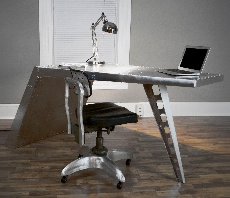 Airfoil Desk Aluminum Aviator Wing Desk Industrial