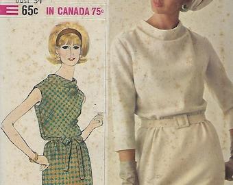 "Simplicity 6166  Misses' One-Piece Dress ... Designer Fashion  Size 14  Bust 34"""