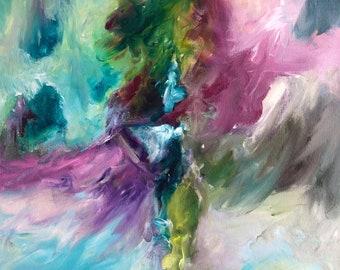 Handmade original acrylic abstract