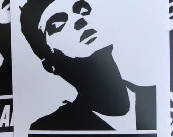 Spread the Word with 12 Morrissey Stickers by Le Fou