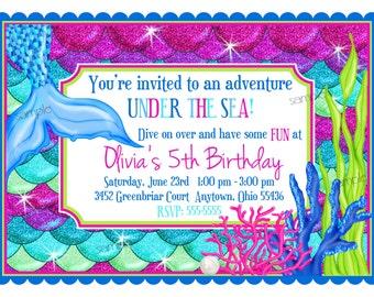 Printable Mermaid BannerMermaid party Banner DIY Mermaid