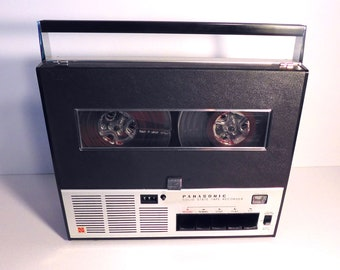 WORKING Reel To Reel Panasonic Tape Recorder, PA System, RQ 156S 1966 Vintage Electronics