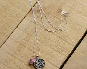 Pregnancy Solomon Seal & Evil Eye Charm Necklace