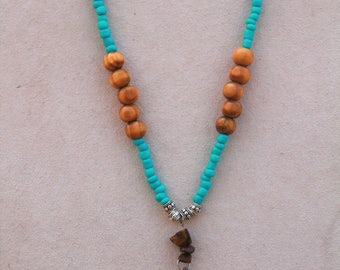 Tiger's Eye Compass Necklace