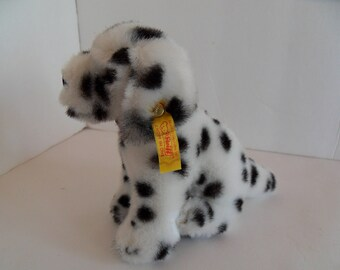 Steiff dog dalmation small button flag made in Germany 1807