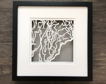 Ravello or Praiano Hand Cut Map