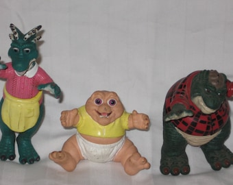 lot of 3 vintage 1991 hasbro the dinosaurs figures