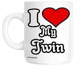I love my twin novelty gift mug