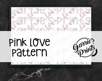 Printable | Pink Love Pattern |