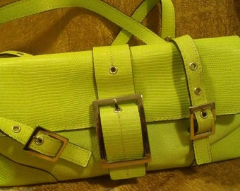 Maxx New York Lime Green Leather Purse