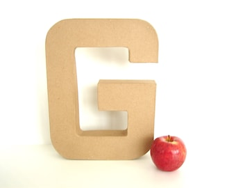 """Paper Mache Letter G (12"""" tall) - Ready to Decorate Blank Letter, Home Decor, and more"""