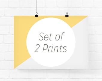 Your choice of 2 prints - Wall Decor, Home Decor, Custom Print Set, Giclée prints, Set of 2 Prints, Nursery Print Set, Set of Two Prints