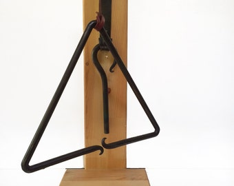 Dinner Triangle - Hand Forged Wrought Iron Blacksmith Art