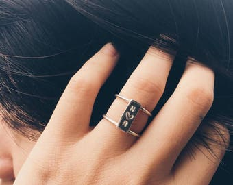 Initial Ring, Promise Ring For Her, Personalized Ring, Promise Ring, Girlfriend Gift, Personalized Jewelry, Simple Promise Ring, Initial