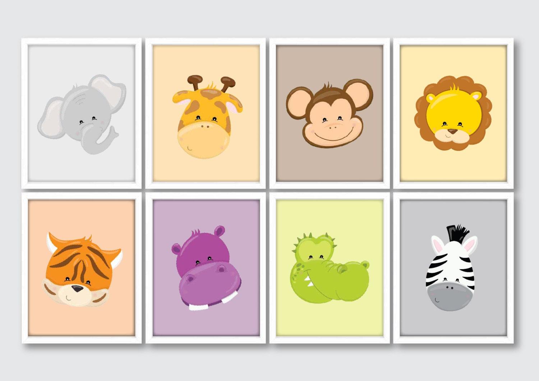 Safari Nursery Prints Baby Animal Artwork Jungle Animals