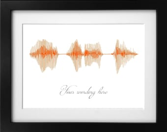 Personalised Sound Wave Picture. Waveform Picture. Sound-To-Vision. Inspirational Quotes. Personalised Greeting.