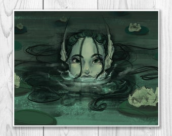 Lake Mermaid ART PRINT